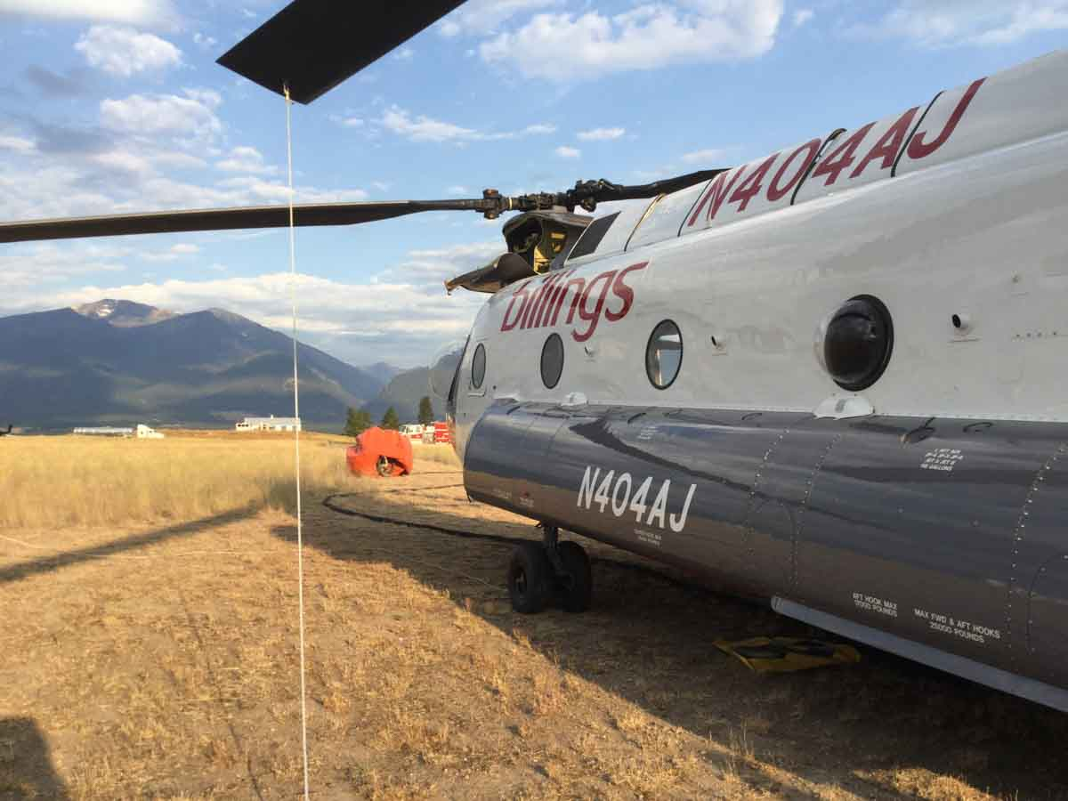 Helicopters at Stevensville, Montana