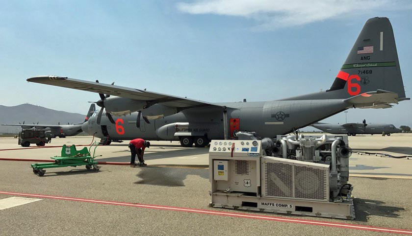 Maffs C 130 S Activated In California Fire Aviation