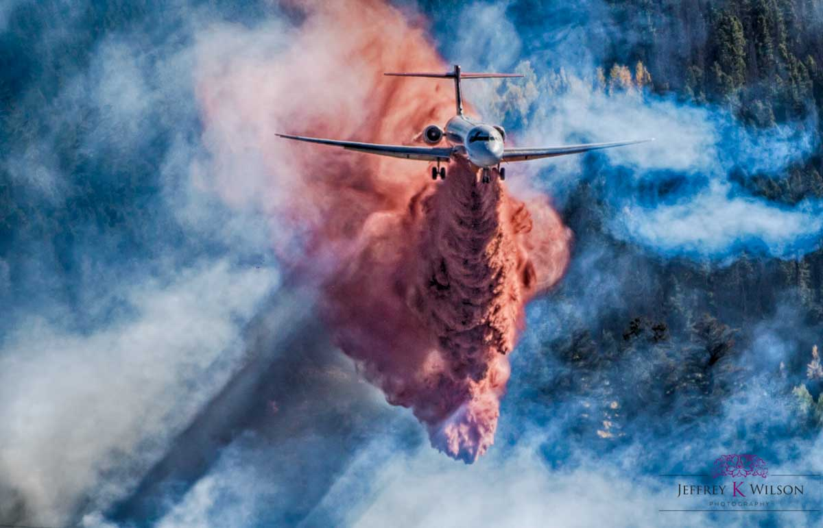 Excellent photo of MD-87 on the Tenderfoot 2 Fire