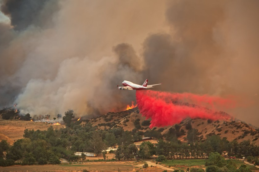 747 Palmer Fire supertanker