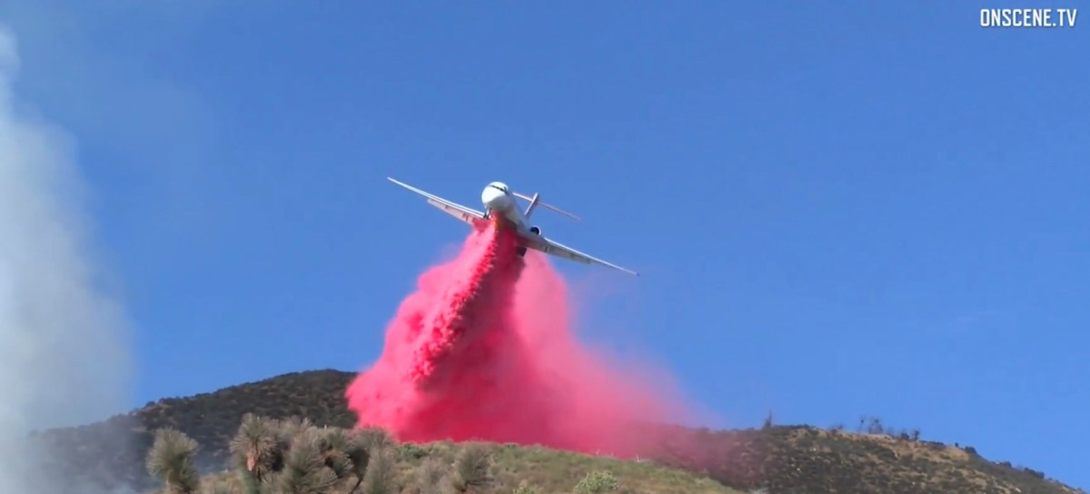 Aerial firefighters on the Oak Fire