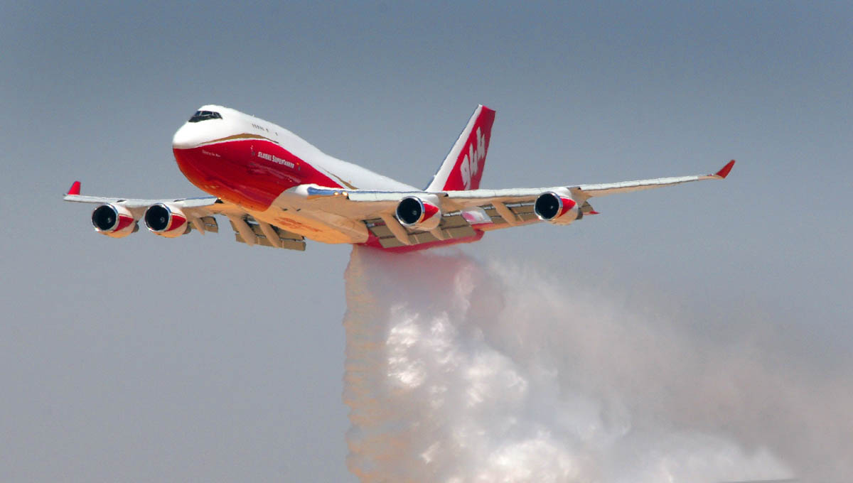 Photos of the 747 SuperTanker at McClellan