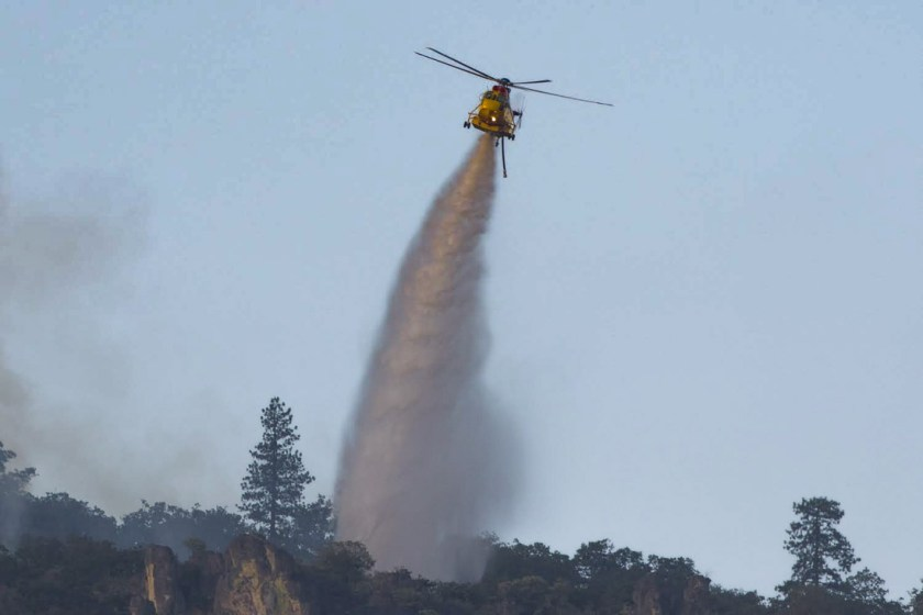 helicopter Green Top Mountain Fire