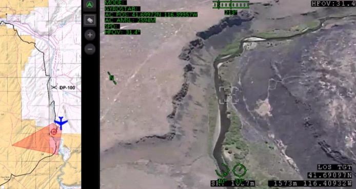 aerial photo Martin fire drone