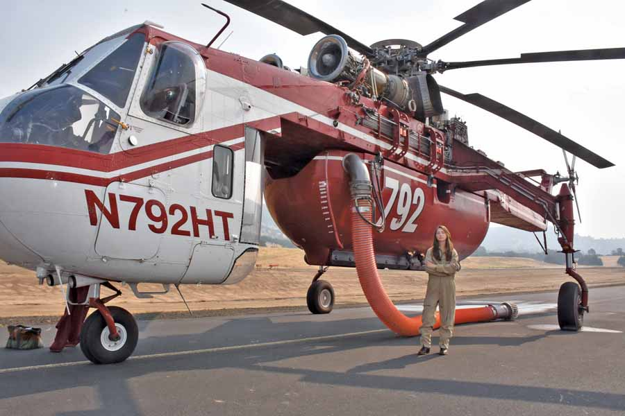 19-year old uses SkyCrane to fight wildfires