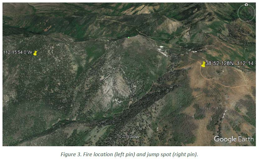 Peak Fire Map.Report Released For Multiple Smokejumper Injuries On Wildfire In