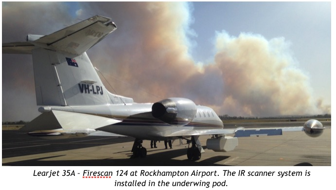 Infrared wildfire mapping aircraft