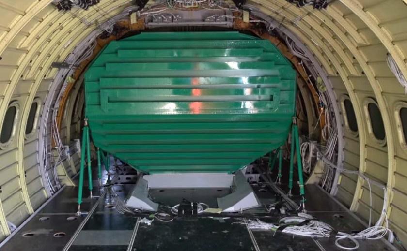 retardant tank inside Minden's T-46 air tanker