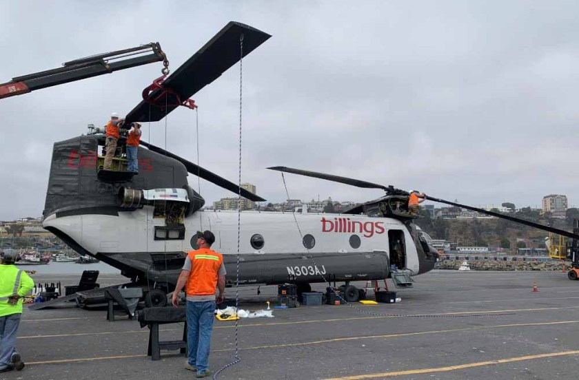 Billings Flying Service CH-47D helicopter Chile