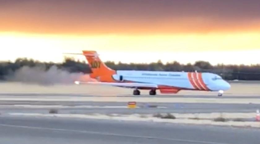 engine failure md87 air tanker chico california
