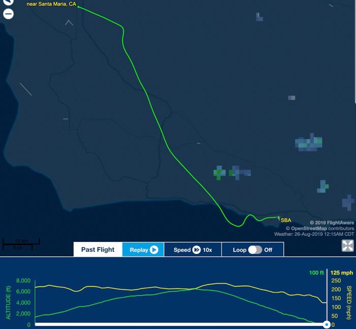 C-130 flight Santa Barbara crash