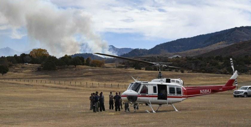 Bell 205A-1 N58HJ Cow Fire