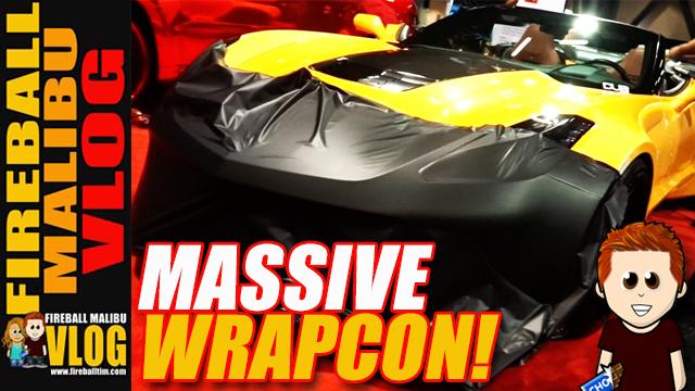 How to Wrap a Car at Wrapcon! – Fireball Malibu Vlog 649