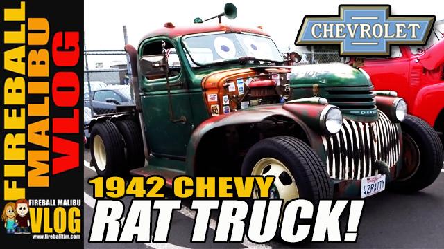 Fireball Malibu Vlog 1942 Chevy Rat Rod Pickup Truck Fireball