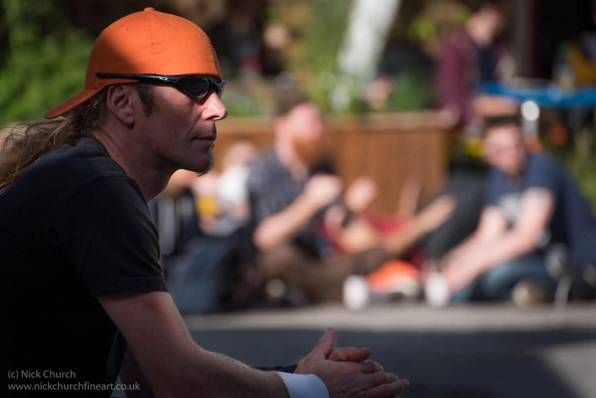 Festival goer at Firebird Festival Bristol