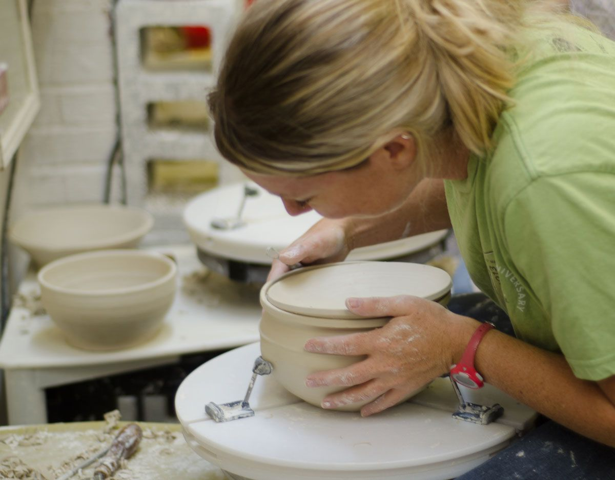 pottery classes at fireborn studios where you work in a real studio