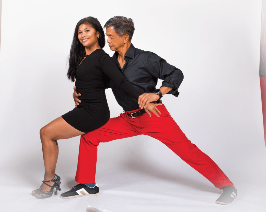 Fire Dance Academy owners, John & Nita pose
