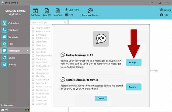 Droid Transfer backup-and-restore-android-messages