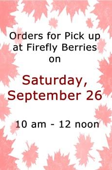 9/26 Saturday Pick Up