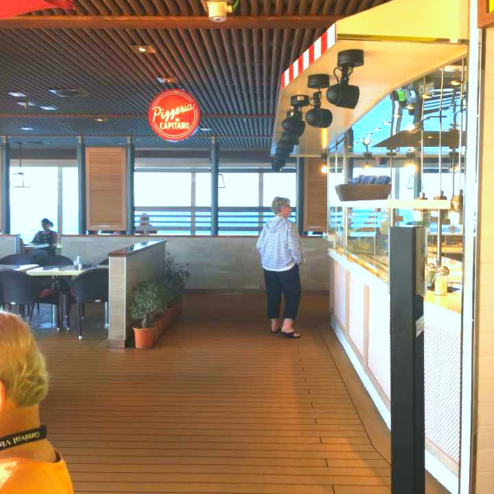 There are many dining options on the carnival vista