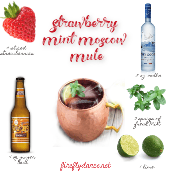 strawberry mint mule