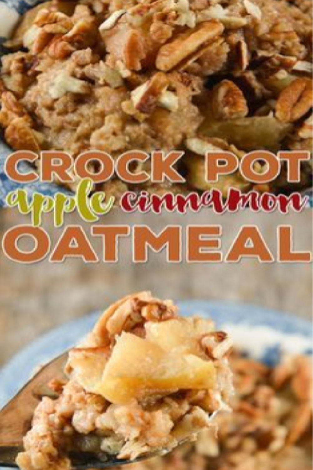 apple cinnamon oatmeal - crock-pot