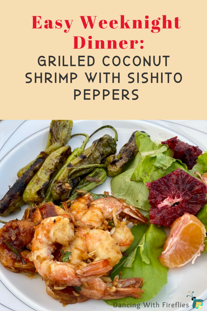 Grilled Shrimp with Shishito peppers