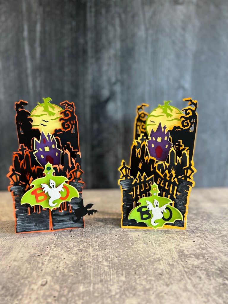 How to make Halloween popout cards