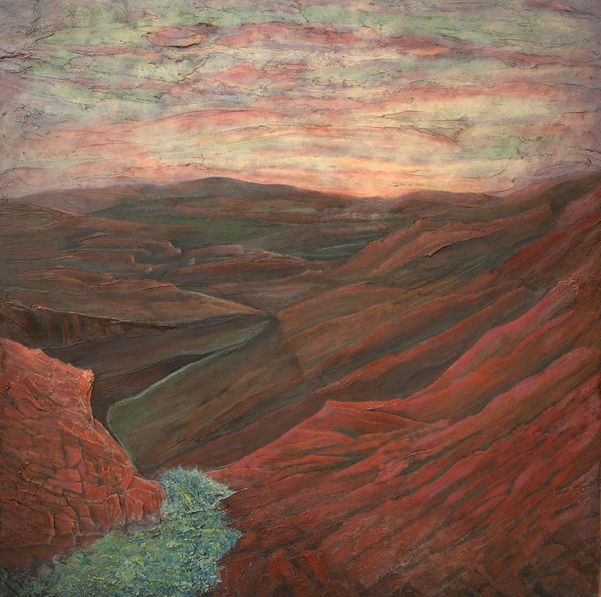 """Creek View 36"""" x 36"""
