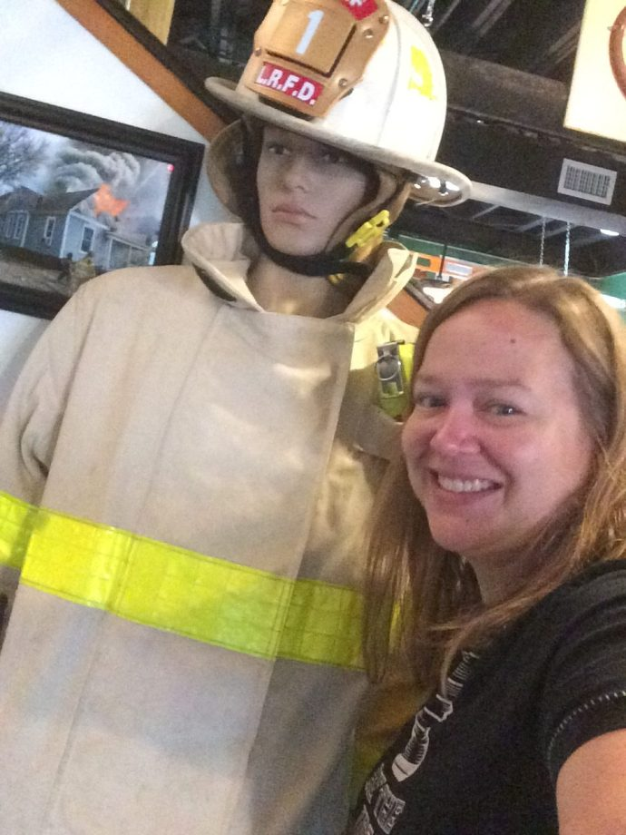 Sally, a team member at the Firehouse Hostel & Museum