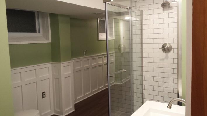 Final bathroom, facing south