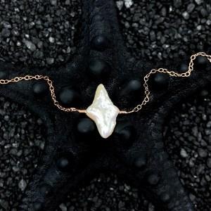 Northern Star Bracelet - Rose Gold - Pearl & Labradorite