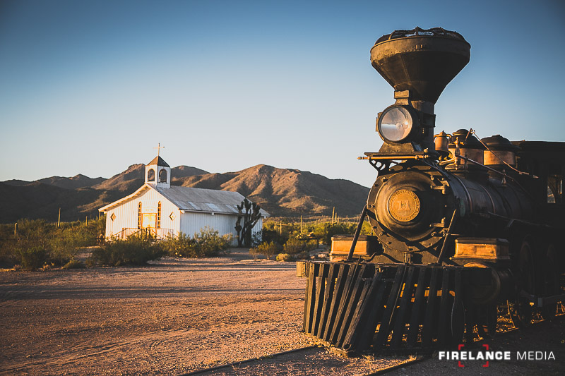 Functional steam engine train at Old Tucson