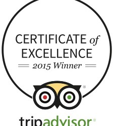 TripAdvisor – Certificate of Excellence 2015