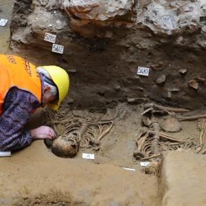 Cimitero del V secolo sotto gli Uffizi forse erano vittime della peste