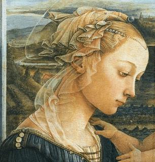 聖母子と天使たち(部分) フィリッポ・リッピ, 1465頃 ウフィツィ美術館, フィレンツェ