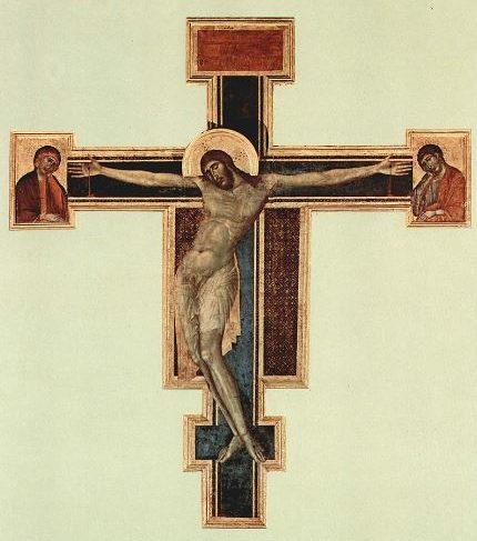 チマブーエ「十字架のキリスト」洪水前
