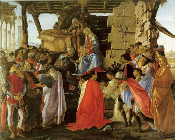 ラーマ家の東方三博士の礼拝サンドロ・ボッティチェリ, 1475頃 ウフィツィ美術館, フィレンツェ