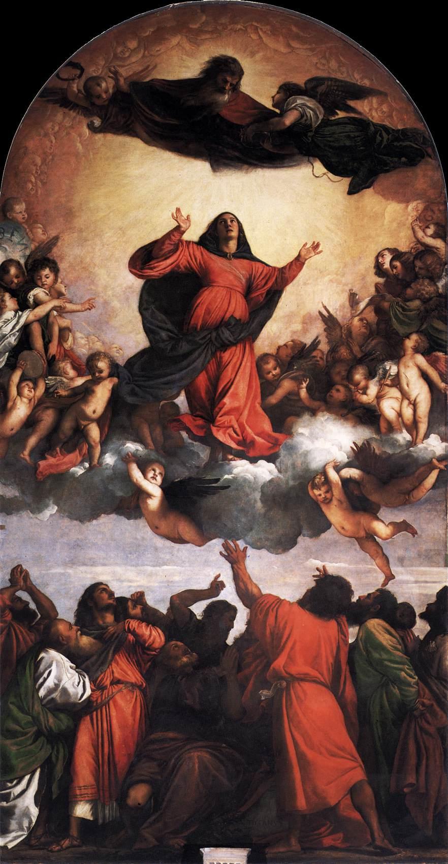 聖母被昇天 ティツィアーノ・ヴェチェッリオ, 1516-18 サンタ・マリア・グロリオーサ・デイ・フラーリ大聖堂, ヴェネツィア