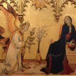 受胎告知 シモーネ・マルティーニ, 1333 ウフィツィ美術館, フィレンツェ
