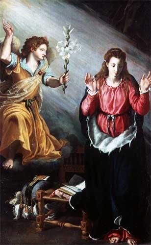 受胎告知 アレッサンドロ・アッローリ, 1603 アカデミア美術館, フィレンツェ
