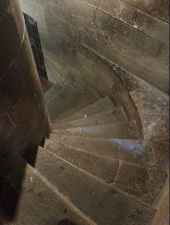 ジョットの鐘楼内部 らせん階段