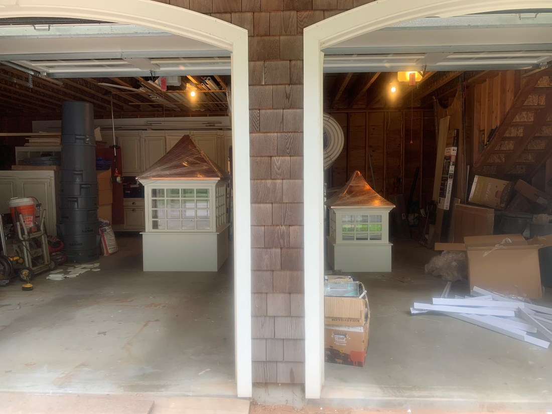 Cupolas in the garage