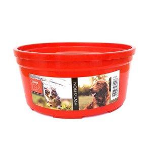 Active Canis Hundeskål i Plastik - Non Spild - Ø12cm - Rød