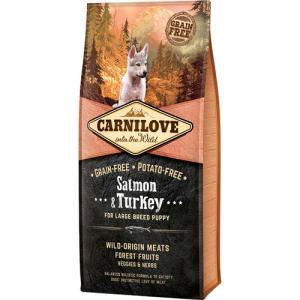 Carnilove Laks og Kalkun - Salmon & Turkey large breed puppy, 12 kg