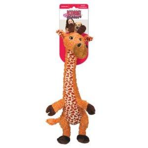 Kong Hundelegetøjs Shakers Luvs Giraf Bamse - 45x11cm - Med Pivelyd