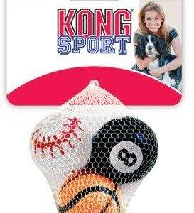 Kong Sports Hundelegetøjs Robuste Bolde til Hårdere Leg - 3 stk - Flere Størrelser