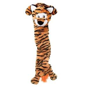 Kong Stretchezz Hundelegetøjs Jumbo Tiger XL - Med Mindre Fyld - 65cm - Med Pivelyd - - - -