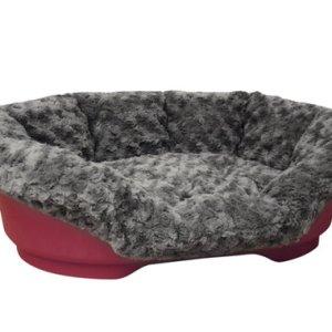 Nobby Cuddly Blødt Betræk til Plastik Hundeseng - Mørkegrå - Flere Størrelser