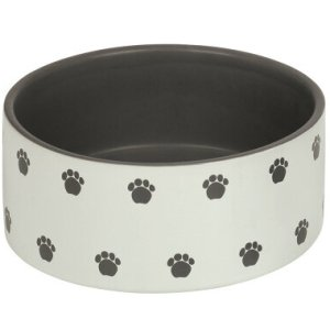 Nobby Hundeskål i Keramik Med Poteaftryk, 1,1L